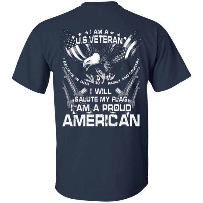 Veteran - I Will Salute My Flag Proud American T Shirt