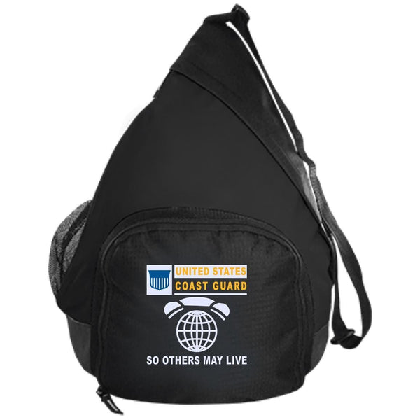 US Coast Guard Information Systems Technician IT.png- So others may live Embroidered Active Sling Pack