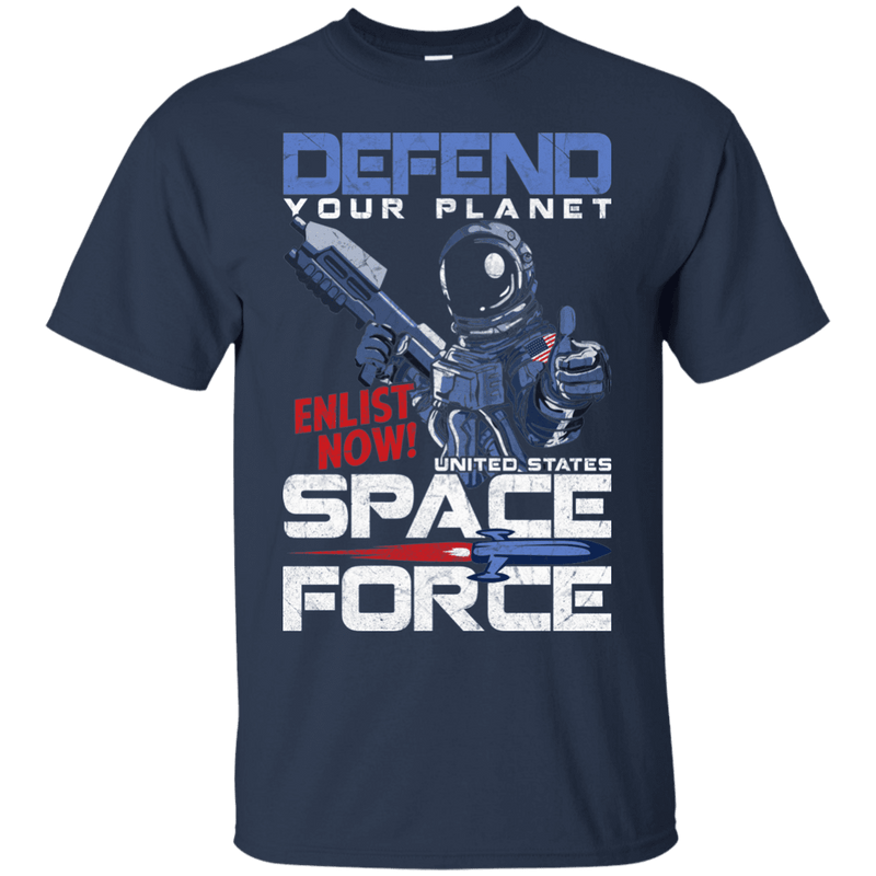 Defend Your Planet Space Force Men Front T Shirts