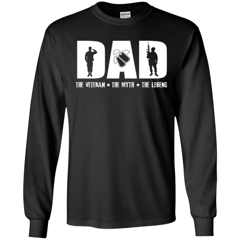 DAD THE VETERAN - THE MYTH - THE LEGEND T SHIRT