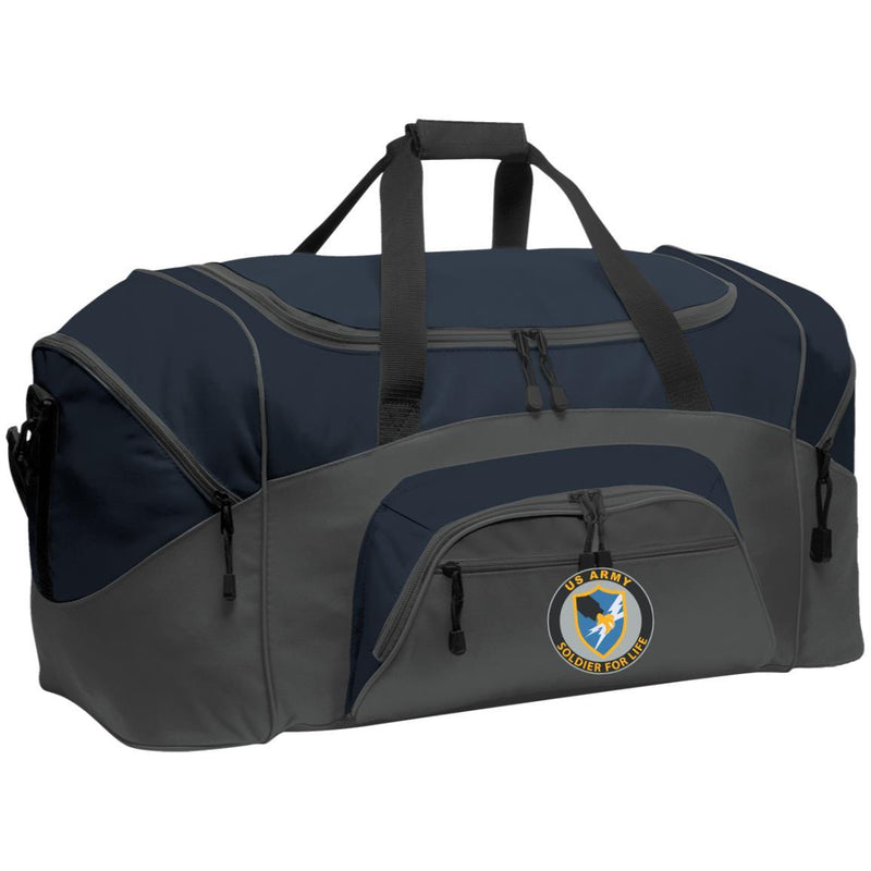 US Army Security Agency Soldier For Life Embroidered Duffel Bag
