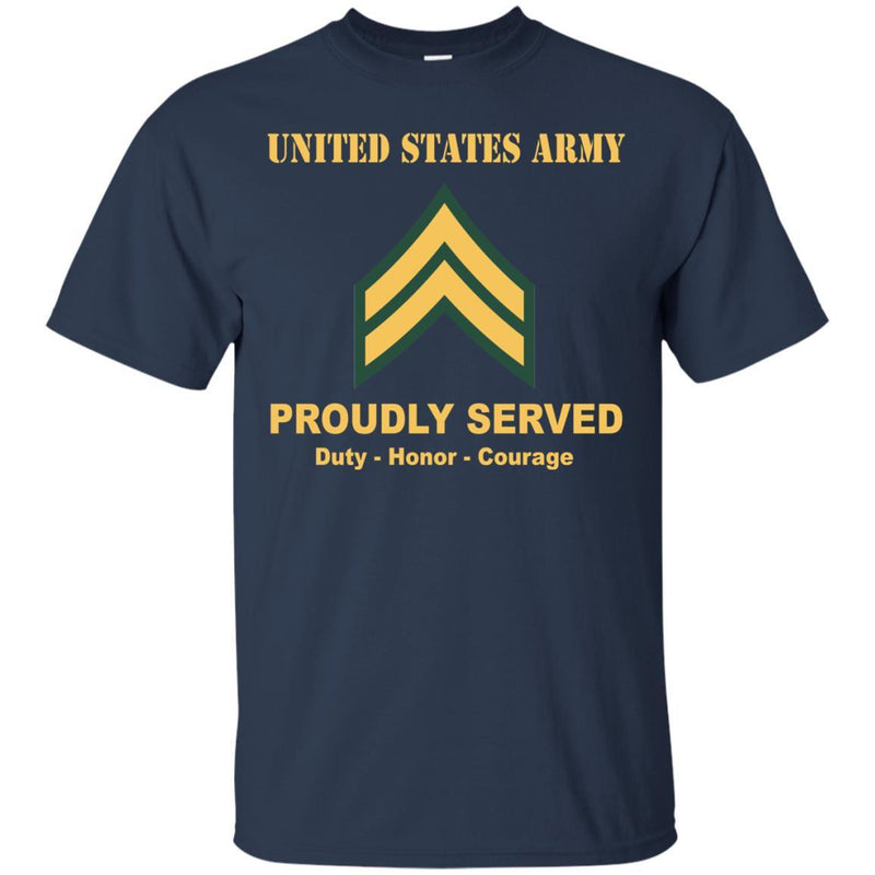 US Army E-4 Corporal E4 CPL Noncommissioned Officer Ranks Men Front Shirt US Army Rank