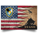 US Army Security Agency Stand For The Flag Satin Landscape Poster