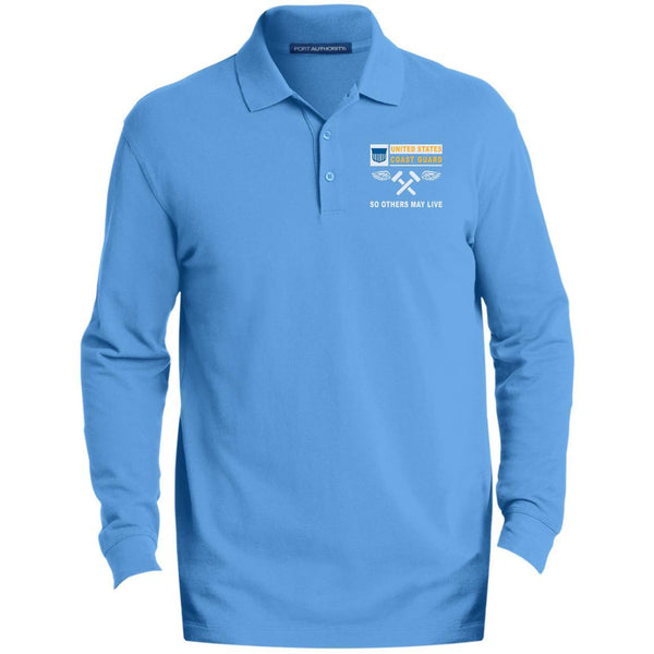 US Coast Guard Aviation Metalsmith AM- So others may live Embroidered Port Authority® LS Polo