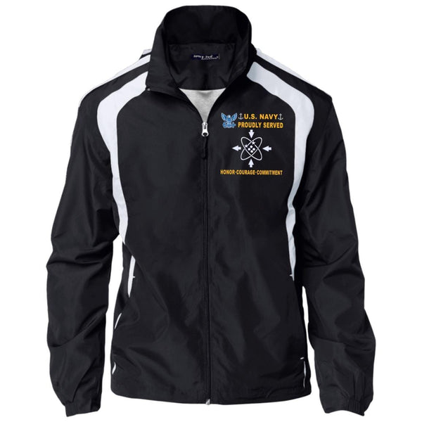 US Navy Data Systems Technician DS - Proudly Served-D04 Embroidered Sport-Tek Jersey-Lined Jacket