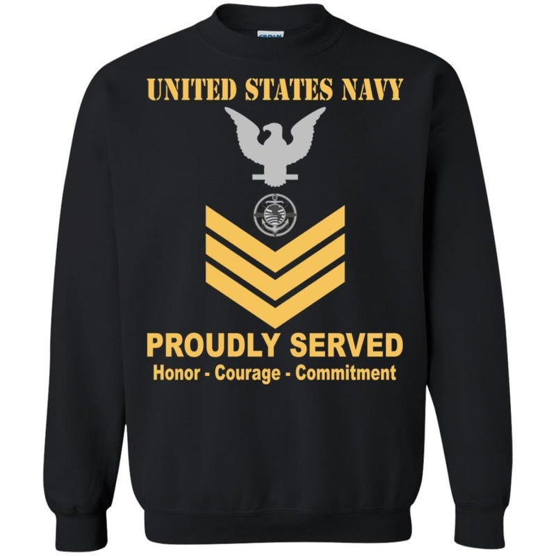 Navy Religious Program Specialist Navy RP E-6 Rating Badges Proudly Served T-Shirt For Men On Front