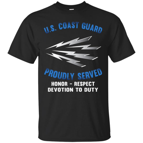 US Coast Guard Telecommunications Specialist TC Logo Proudly Served T-Shirt For Men On Front