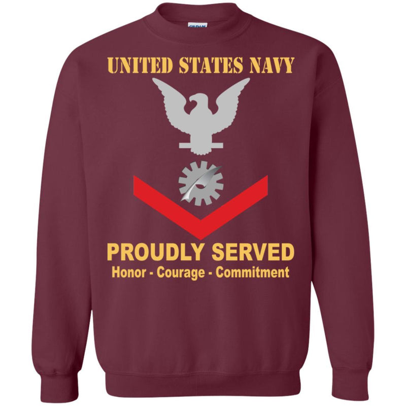 Navy Data Processing Technician Navy DP E-4 Rating Badges Proudly Served T-Shirt For Men On Front