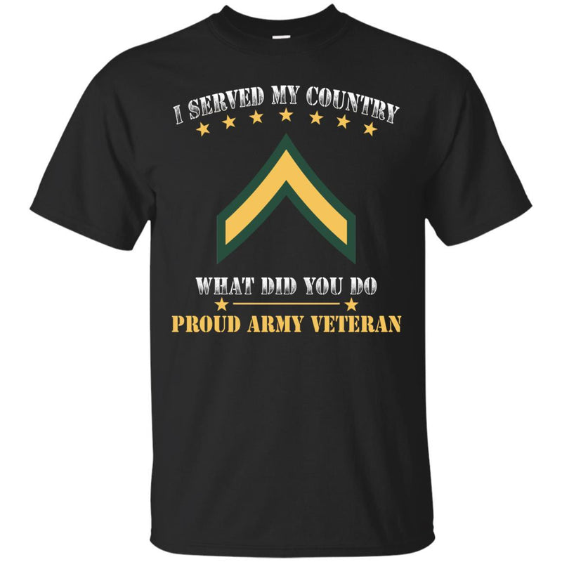 Army E-2 PV2 E2 Private Second Class Ranks Men Front T Shirt - Proud US Army Veteran