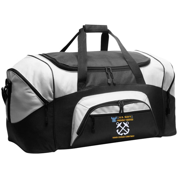 US Navy Boatswains Mate BM - Proudly Served-D04 Embroidered Duffel Bag
