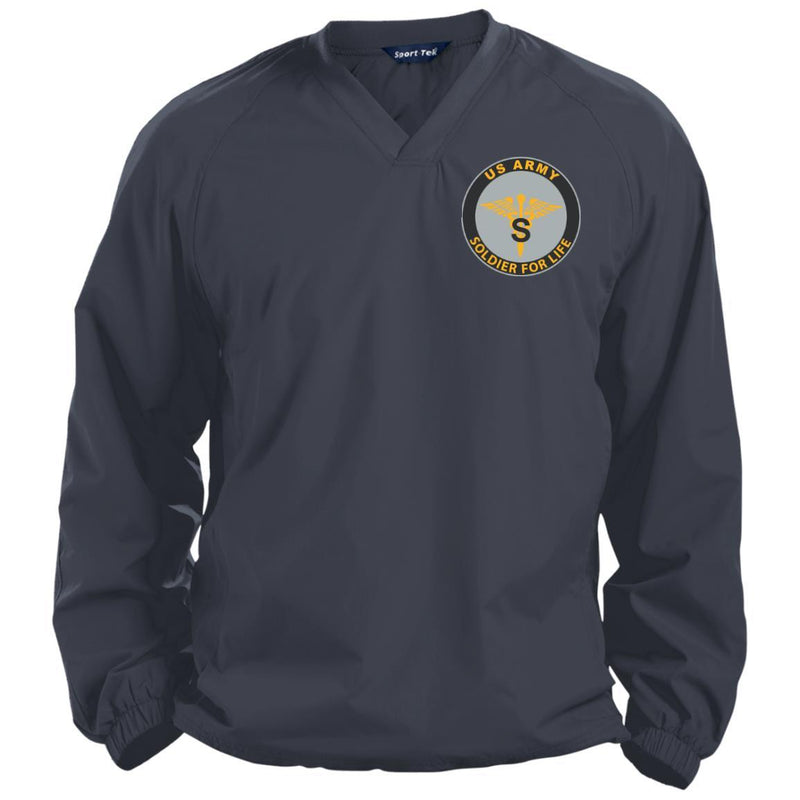 US Army Medical Specialist Corps Soldier For Life Embroidered Sport-Tek Pullover V-Neck Windshirt