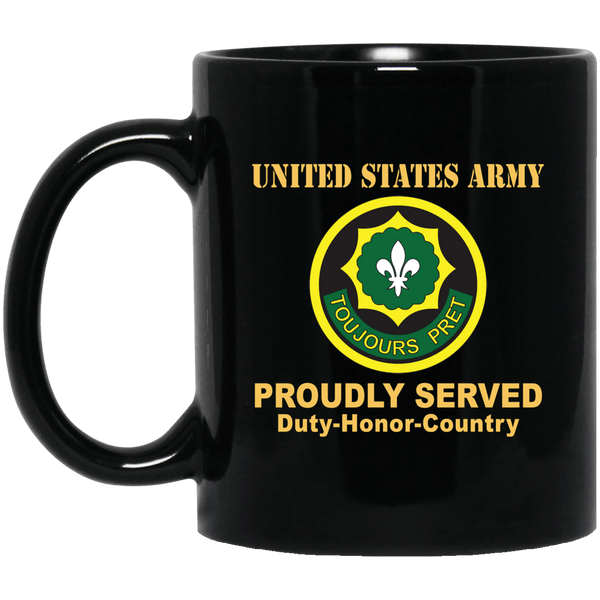 US ARMY 2ND CAVALRY REGIMENT- 11 oz - 15 oz Black Mug