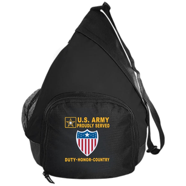 US Army Adjutant General - Proudly Served-D04 Embroidered Active Sling Pack