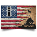 US Army W-4 Chief Warrant Officer 4 W4 CW4 Warrant Officer Stand For The Flag Satin Landscape Poster