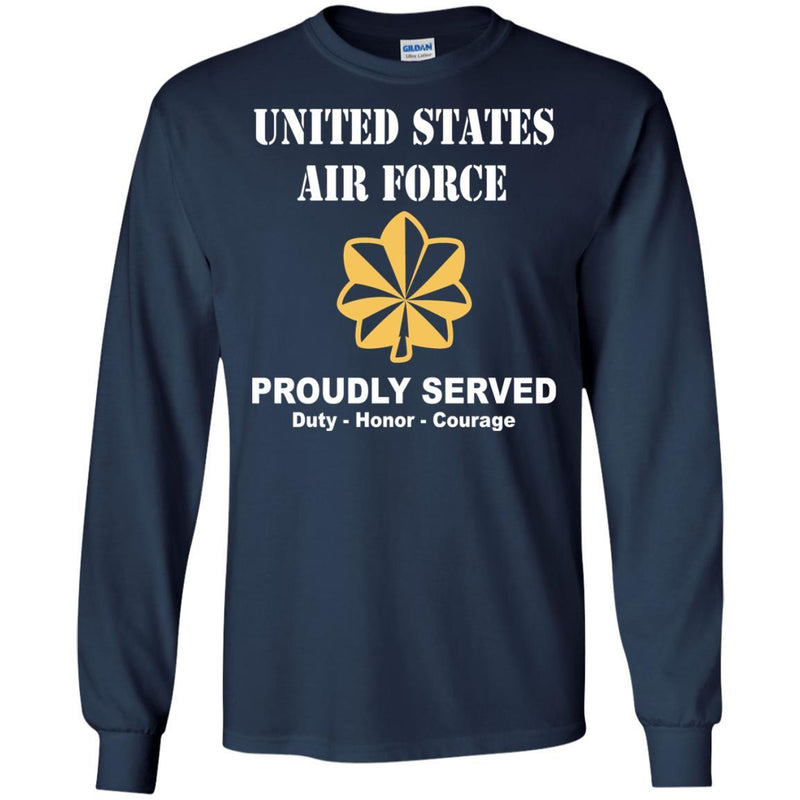 US Air Force O-4 Major Maj O4 Field Officer Ranks Men Front T Shirt For Air Force