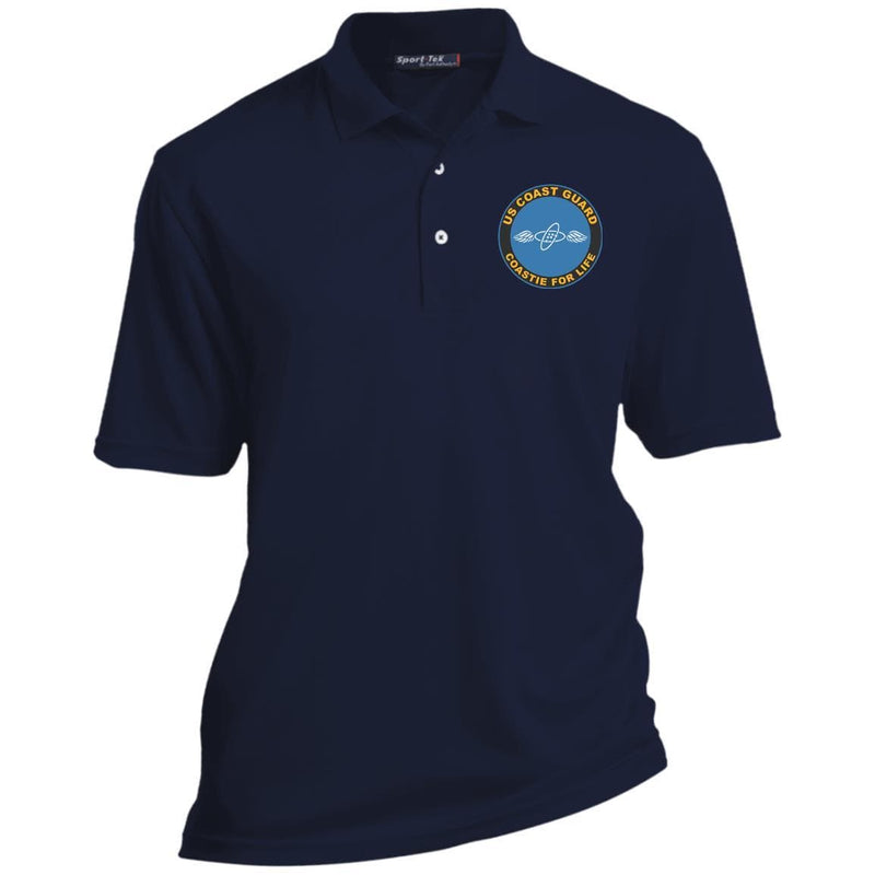 US Coast Guard Aviation Electronics Technician AET Logo Coastie For Life Embroidered Port Authority® Polo Shirt