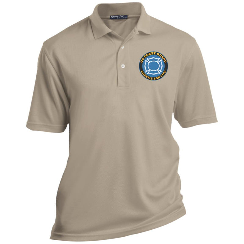 US Coast Guard Fire and Safety Specialist FF Coastie For Life Embroidered Port Authority® Polo Shirt