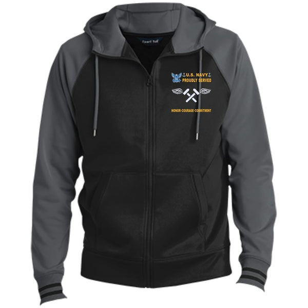US Navy Aviation Structural Mechanic AM - Proudly Served-D04 Embroidered Sport-Tek® Full-Zip Hooded Jacket