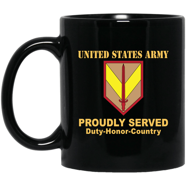 US ARMY 1ST SUSTAINMENT COMMAND- 11 oz - 15 oz Black Mug