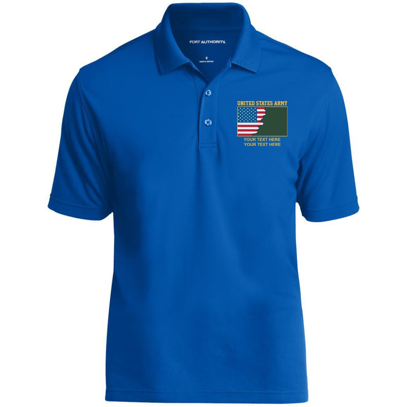 US Army Ranks - Personalized Embroidered Port Authority® Polo Shirt