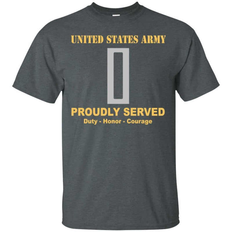 US Army W-5 Chief Warrant Officer 5 W5 CW5 Warrant Officer Ranks Men Front Shirt US Army Rank