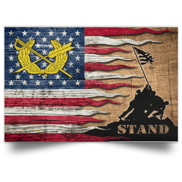 US Army Judge Advocate General's Corps Stand For The Flag Satin Landscape Poster