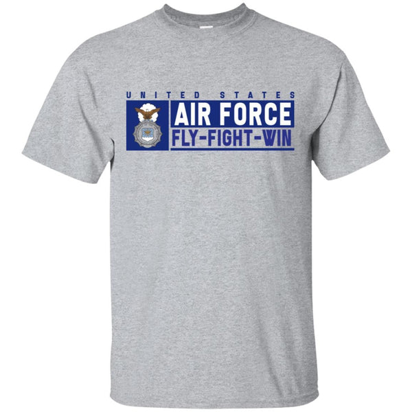 US Air Force Security Police Fly - Fight - Win T-Shirt On Front For Men