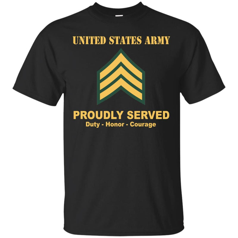 US Army E-5 Sergeant E5 SGT Noncommissioned Officer Ranks Men Front Shirt US Army Rank