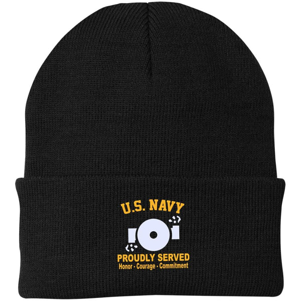 US Navy Boiler Technician BT Logo Embroidered Port Authority Knit Cap