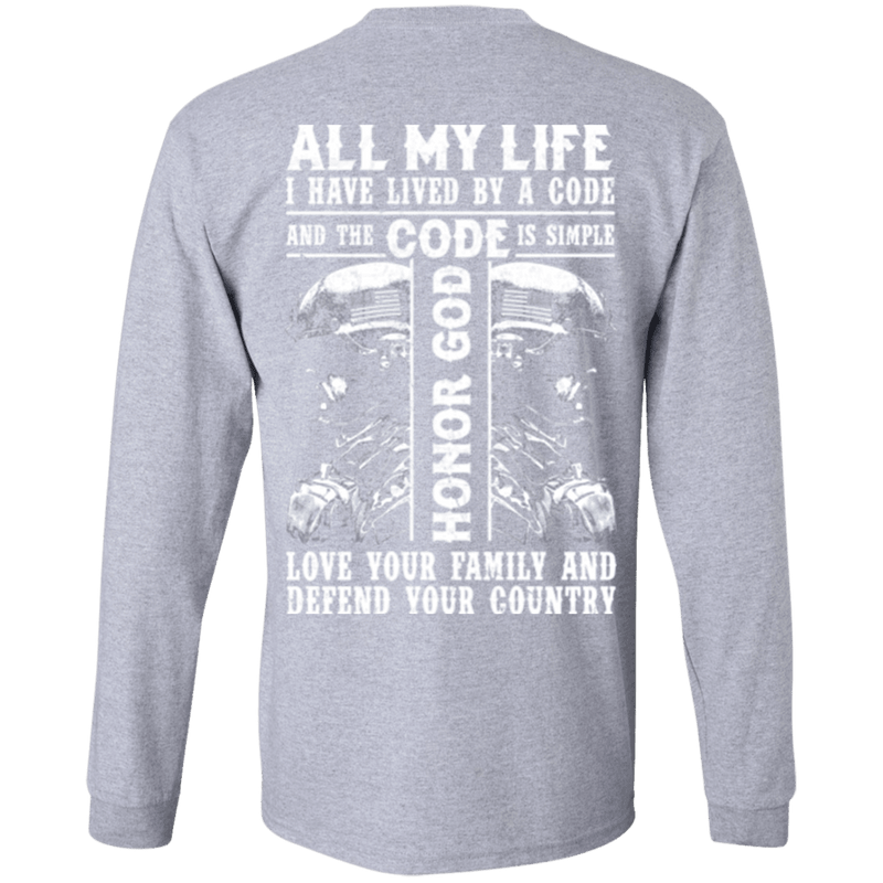 Honor God Love Family And Defend Your Country Veteran T Shirt