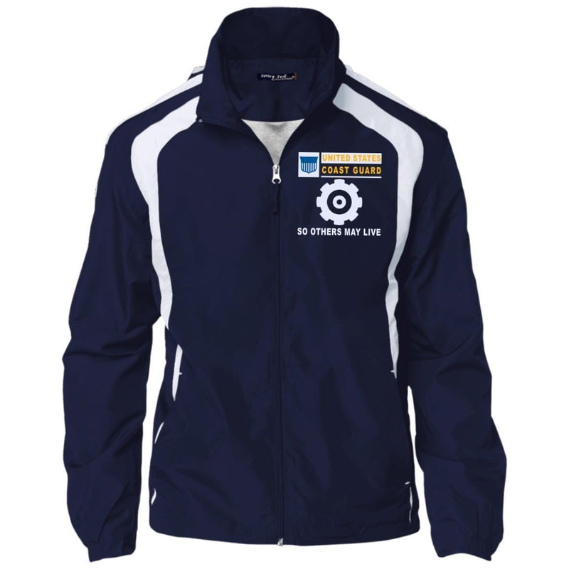 US Coast Guard Machinery Technician MK- So others may live Embroidered Sport-Tek Jersey-Lined Jacket