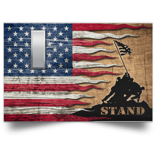 US Army O-2 First Lieutenant O2 1LT Commissioned Officer Stand For The Flag Satin Landscape Poster