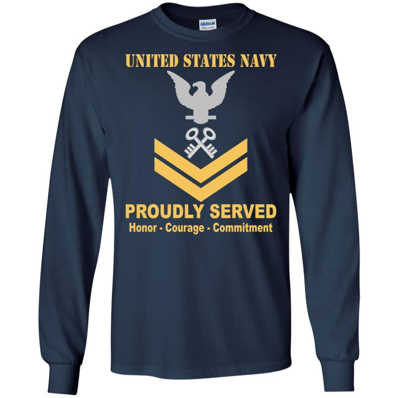 Navy Storekeeper Navy SK E-5 Rating Badges Proudly Served T-Shirt For Men On Front