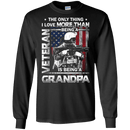 I love Being A Grandpa Veteran - Men Front T Shirt