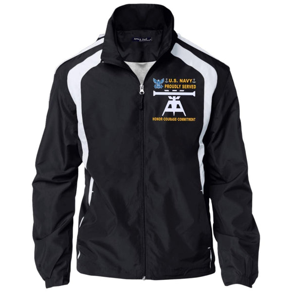 US Navy Fire Control Technician FT - Proudly Served_D04 Embroidered Sport-Tek Jersey-Lined Jacket