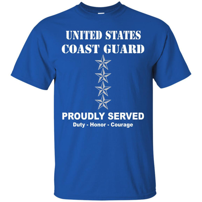 US Coast Guard O-10 Admiral O10 ADM Flag Officer Men Front USCG T Shirt
