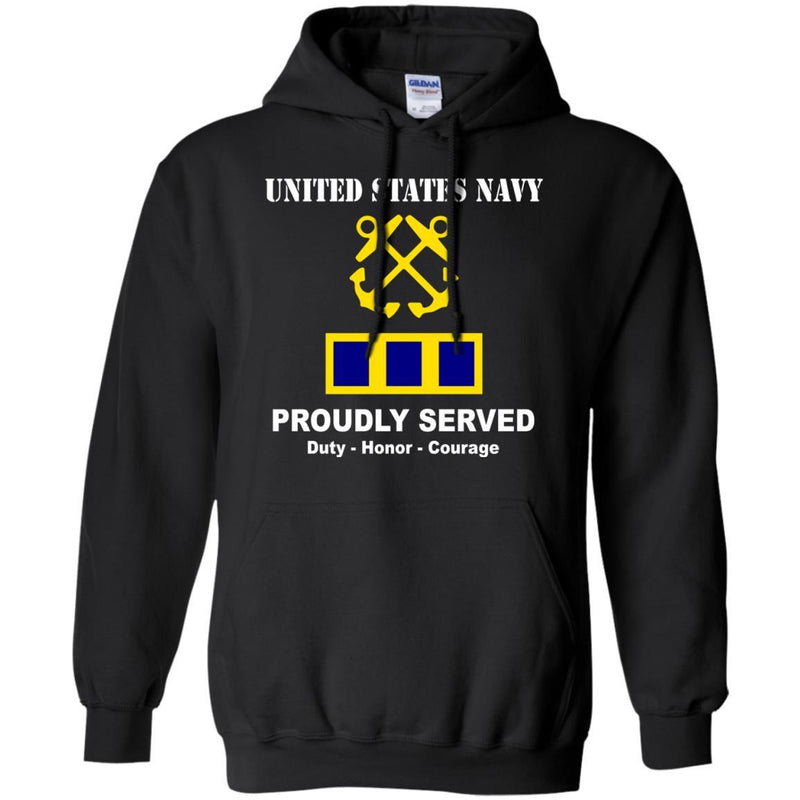 US Navy W-2 Chief Warrant Officer 2 W2 CW2 Warrant Officer Ranks T shirt Men Front T Shirt Navy