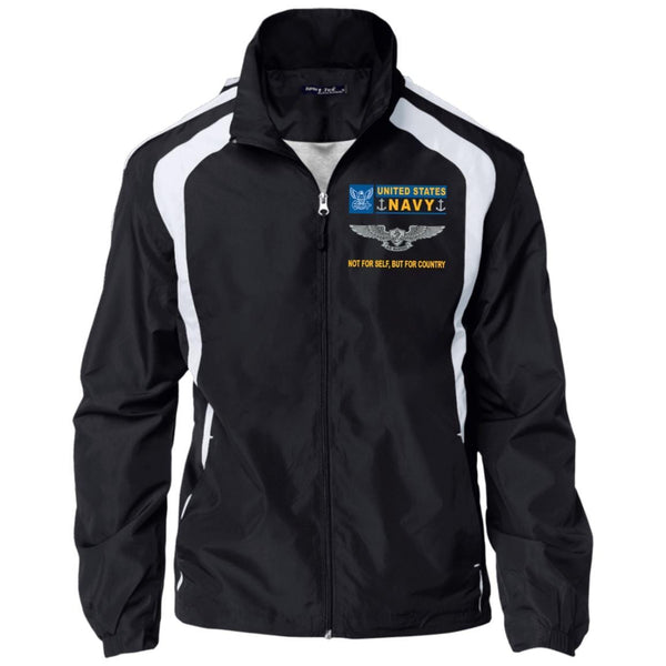 U.S. Navy Enlisted Aviation Warfare Specialist Not For Self But For Country Embroidered Sport-Tek Jersey-Lined Jacket