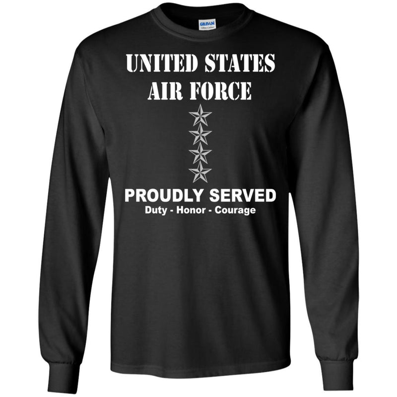 US Air Force O-10 General Gen O10 General Officer Ranks Men Front T Shirt For Air Force