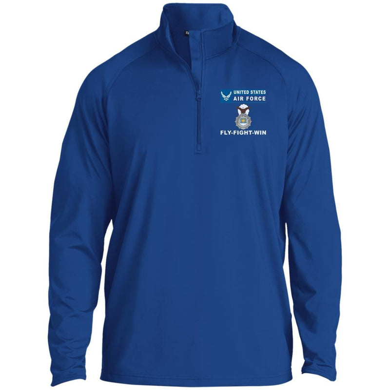 US Air Force Security Police Fly - Fight - Win Embroidered Port Authority® LS Polo
