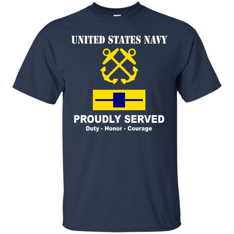 US Navy W-5 Chief Warrant Officer 5 W5 CW5 Warrant Officer Ranks T shirt Men Front T Shirt Navy