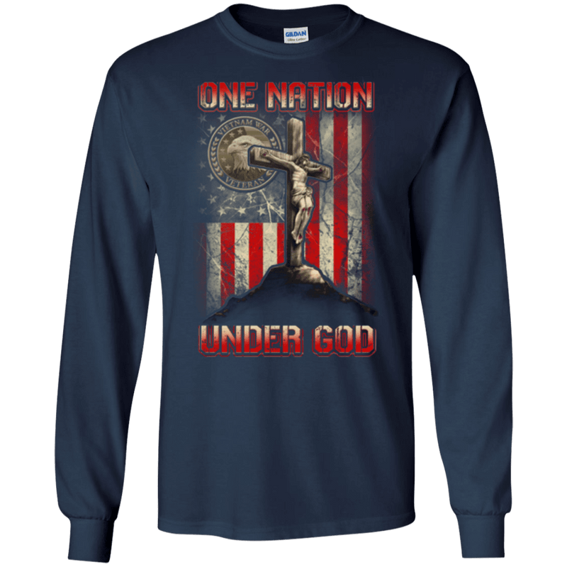 "Military T-Shirt ""ONE NATION UNDER GOD VIETNAM VETERAN"""