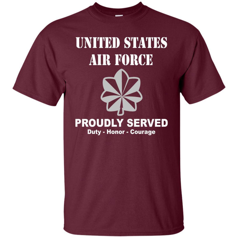US Air Force O-5 Lieutenant Colonel Lt Co O5 Field Officer Ranks Men Front T Shirt For Air Force