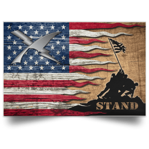 US Coast Guard Intelligence Specialist IS Logo Stand For The Flag Satin Landscape Poster