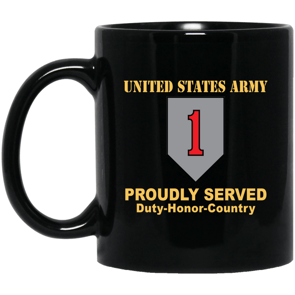 US ARMY 1ST INFANTRY DIVISION- 11 oz - 15 oz Black Mug