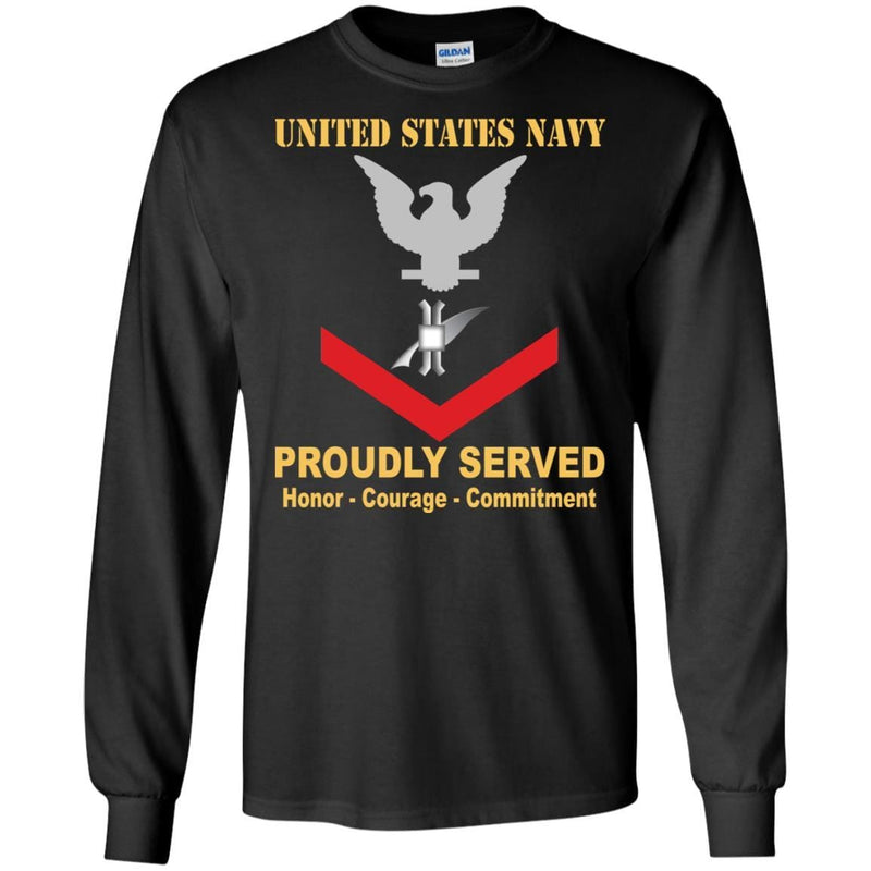 Navy Legalman Navy LN E-4 Rating Badges Proudly Served T-Shirt For Men On Front