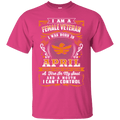 Female Veteran Born In April T Shirt