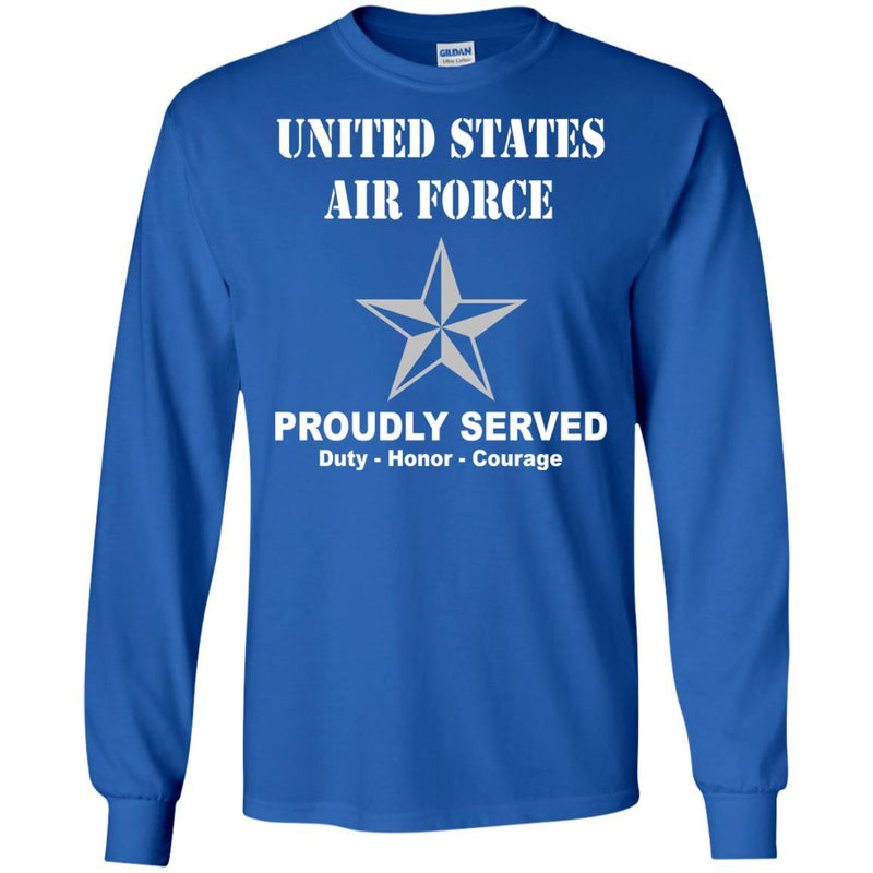 US Air Force O-7 Brigadier General Brig O7 General Officer Ranks Men Front T Shirt For Air Force