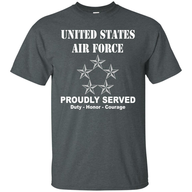 US Air Force O-10 General of the Air Force GAF O10 General Officer Ranks Men Front T Shirt For Air Force