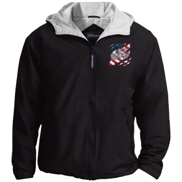Navy Deep Submergence Enlisted And American Flag At Heart Embroidered Team Jacket
